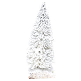 Snowy fir with cork base for Nativity scene real h. 15 cm s2