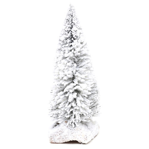 Snowy fir with cork base for Nativity scene real h. 15 cm 1