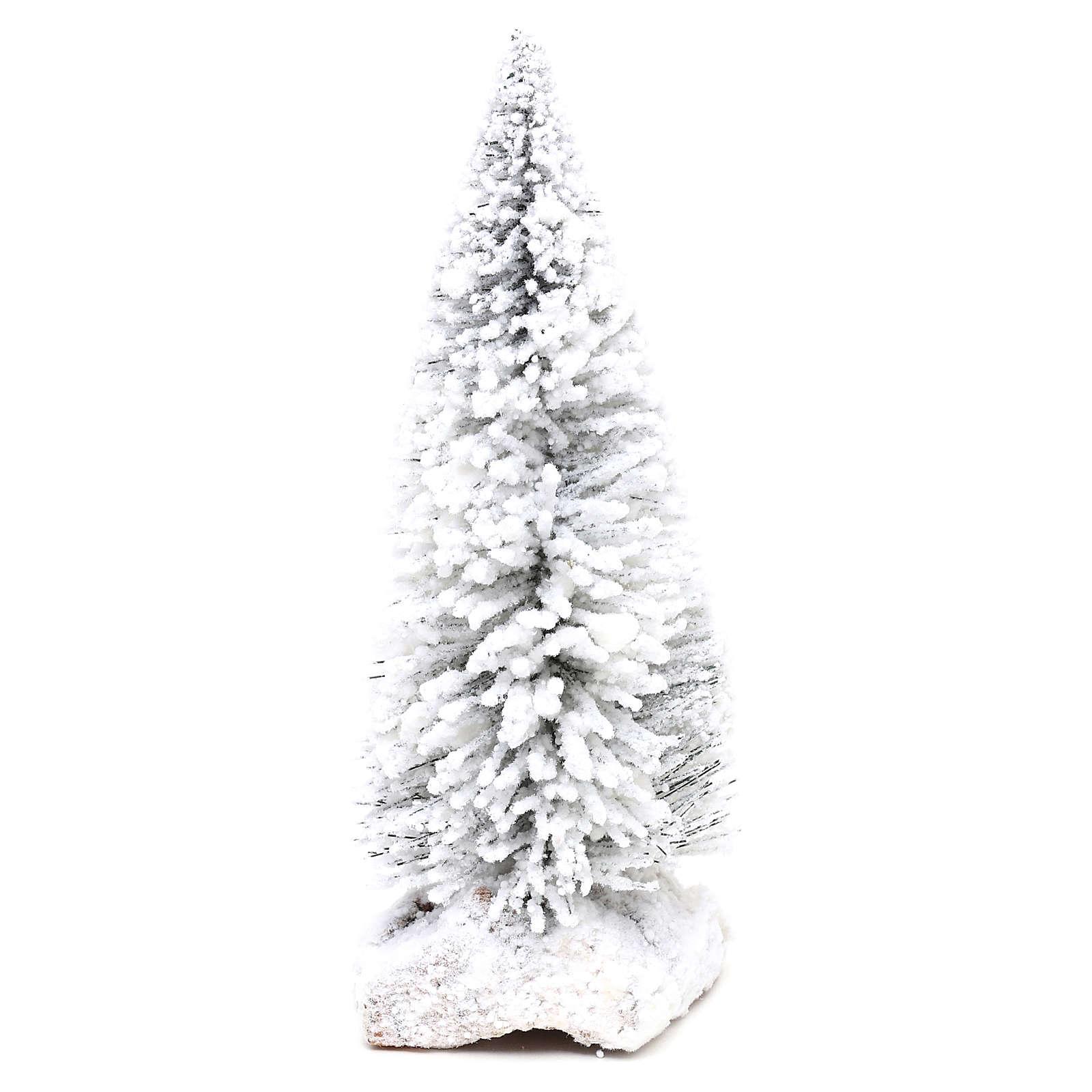 Abeto nevado con base de corcho h real 15 cm 4