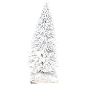 Abeto nevado con base de corcho h real 15 cm s2
