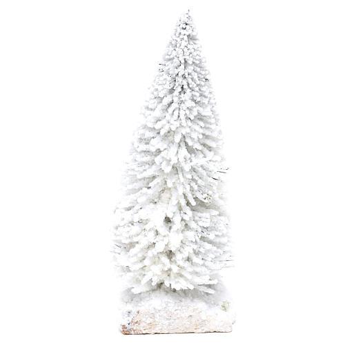 Abeto nevado con base de corcho h real 15 cm 2