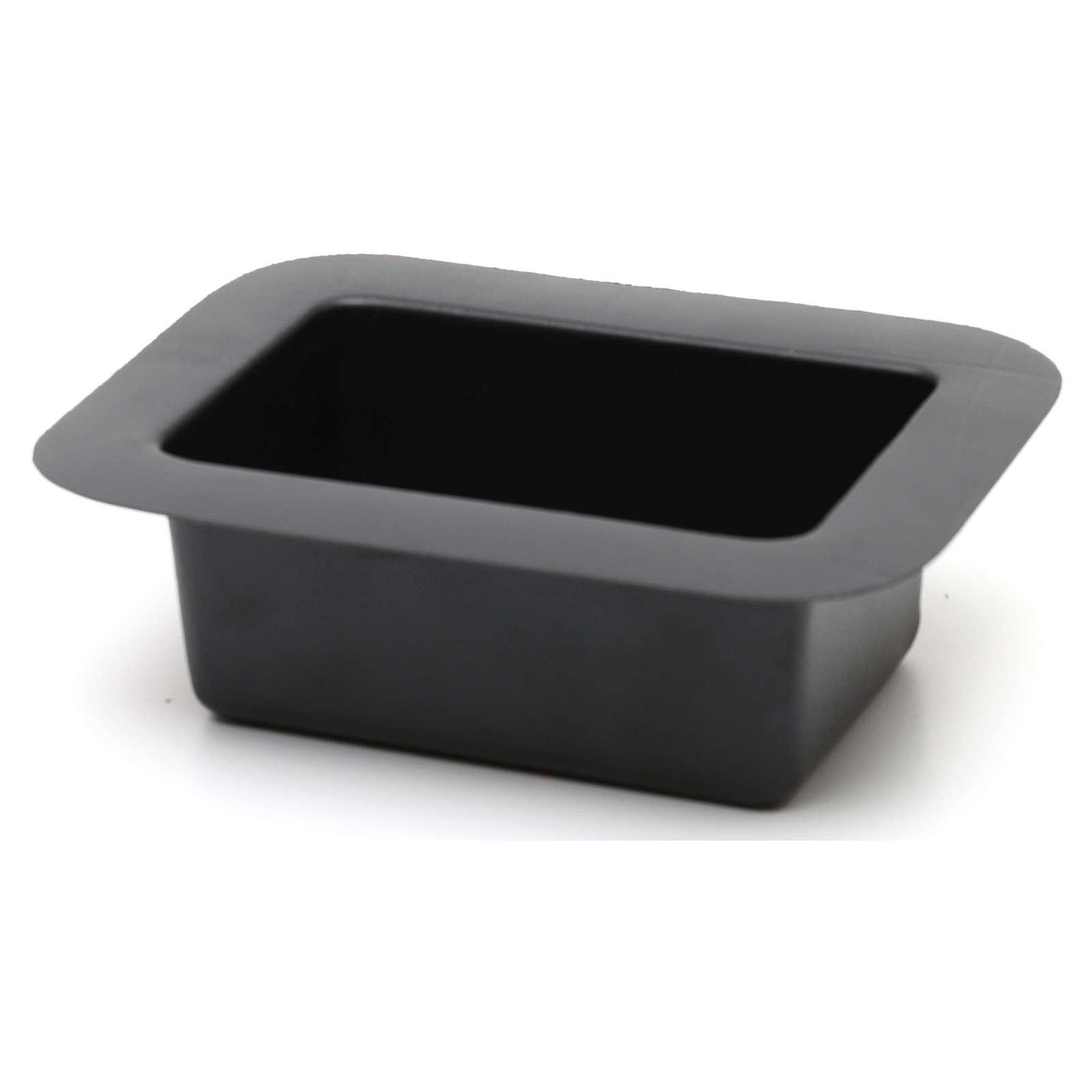 Recipiente negro para fuente belén 5x15x10 cm 4
