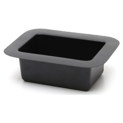 Petite bassine noire pour fontaine crèche 5x15x10 cm 2