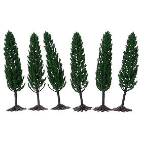 Ciprés, árbol para belén h real 15 cm s2