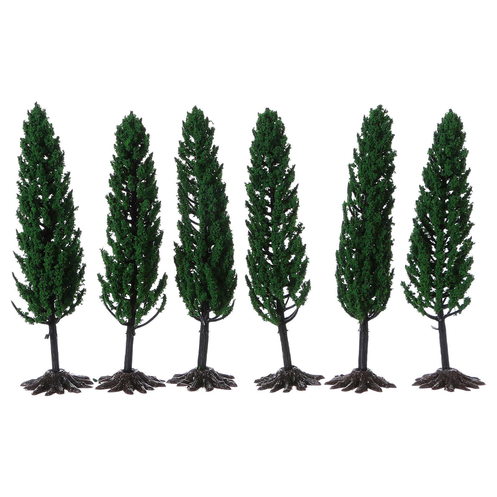 Cyprès arbre pour crèche h réelle 15 cm  4
