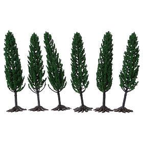 Cyprès arbre pour crèche h réelle 15 cm  s2