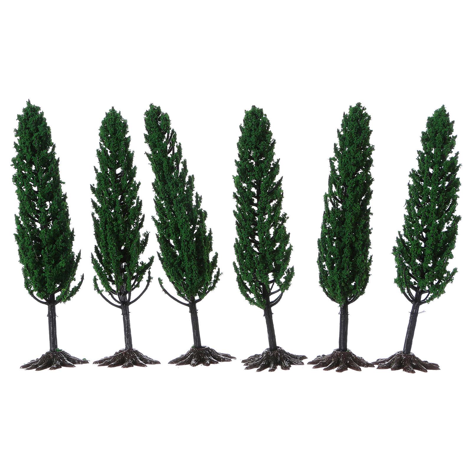 Cipresso, albero per presepe h reale 15 cm 4