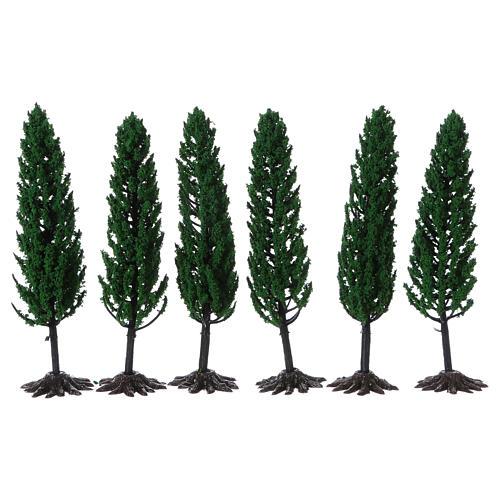 Cipresso, albero per presepe h reale 15 cm 1