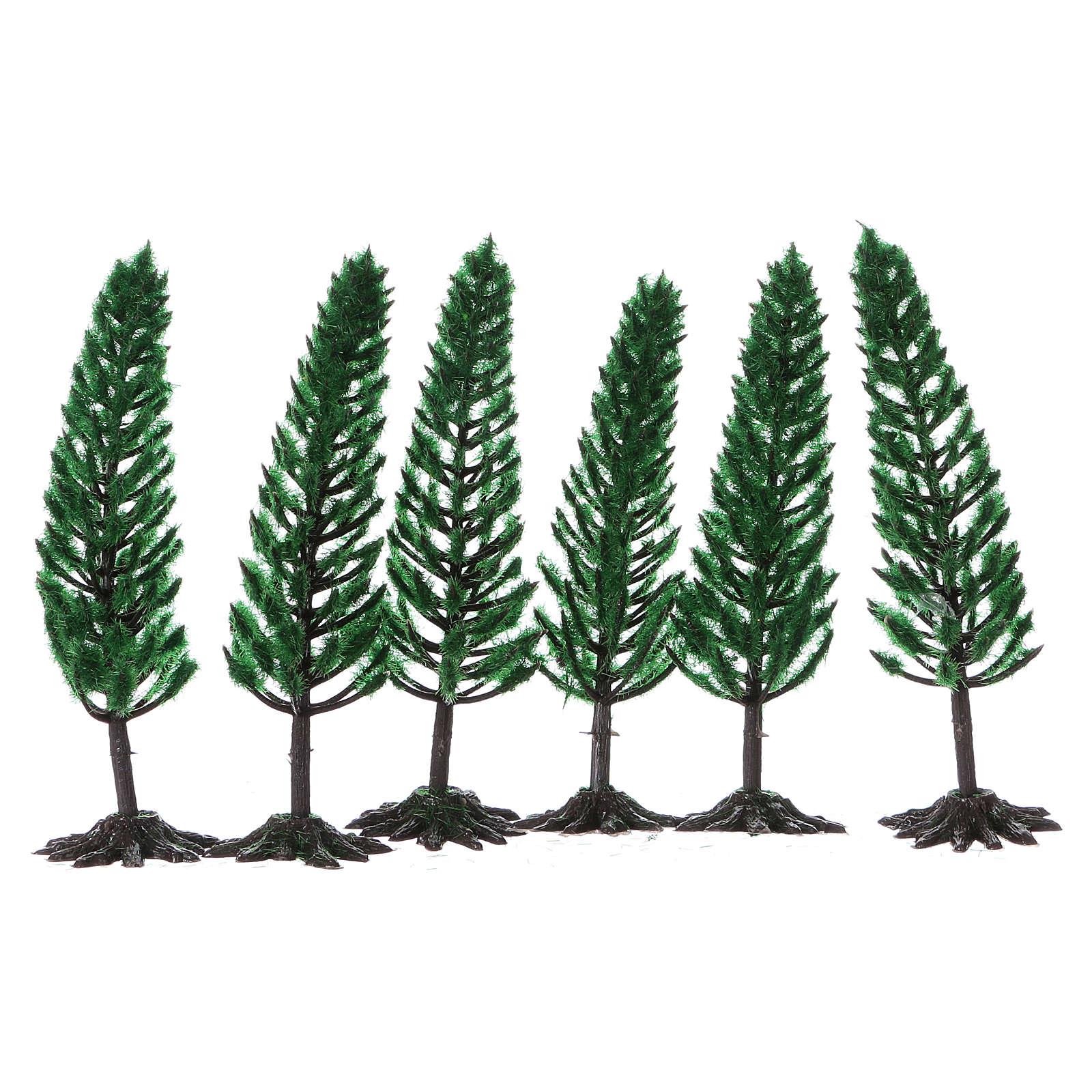 Pino, albero per presepe h reale 15 cm 4