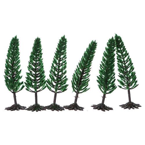 Pino, albero per presepe h reale 15 cm 2