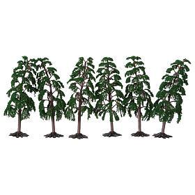 Albero verde con rami per presepe h reale 15 cm s2