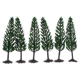 Árbol verde para belén h real 16 cm s2