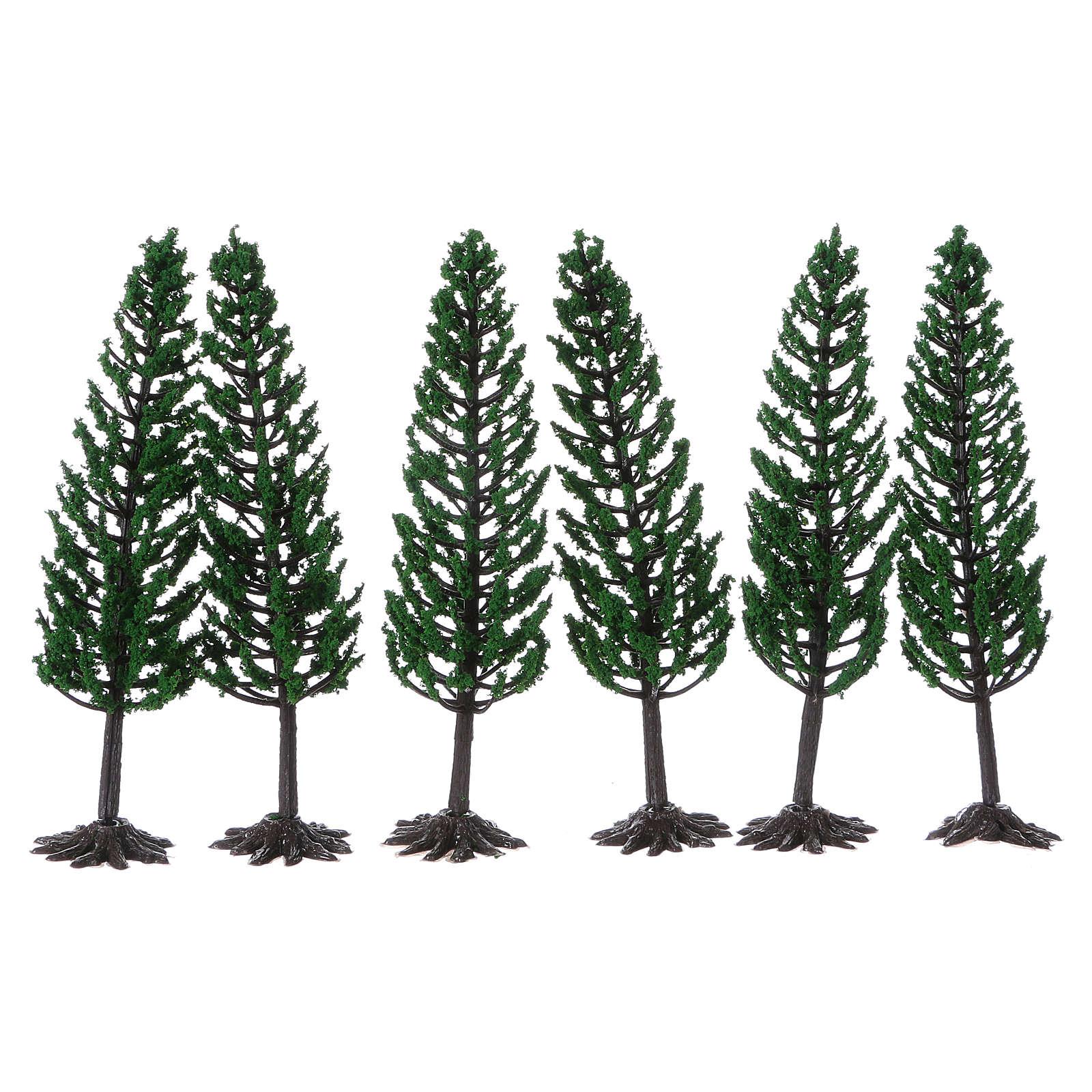 Albero verde per presepe h reale 16 cm 4