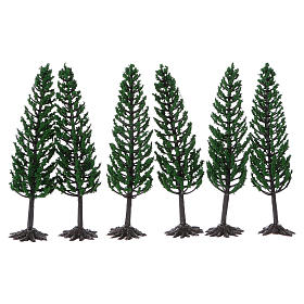 Albero verde per presepe h reale 16 cm s2