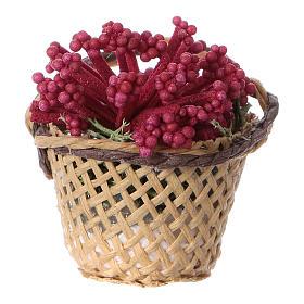 Miniature flower basket, for DIY nativity real h 4 cm s1
