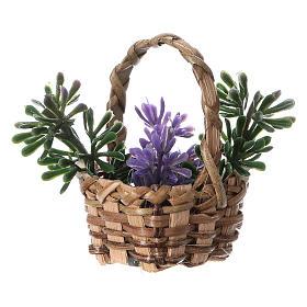 Lavender basket for DIY nativity, real h 5 cm s2
