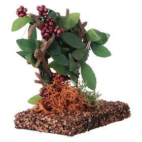 Grappes de raisin pour bricolage de crèche h réelle 7 cm s3