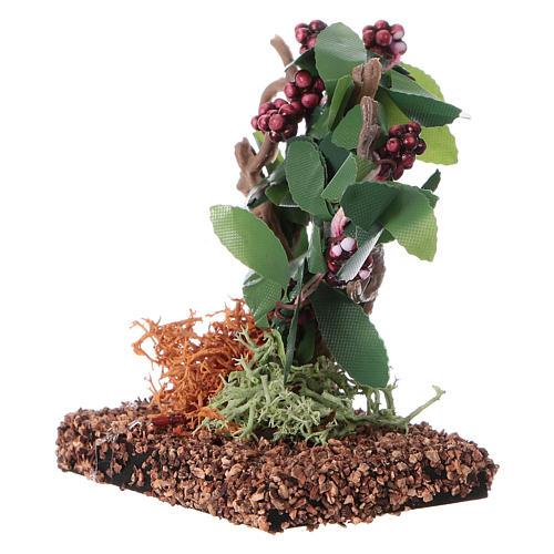 Grappes de raisin pour bricolage de crèche h réelle 7 cm 2