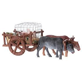 Carro con gansos y huevos 5x15x5 cm belén 5 cm s3