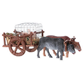 Wagon with geese and eggs 5x15x5 cm, for 5 cm nativity s3