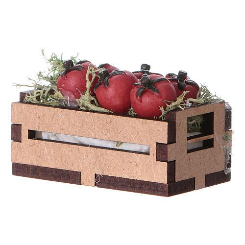 Cassa con pomodori 5x5x5 cm 2