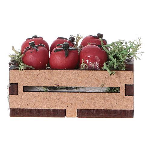 Cassa con pomodori 5x5x5 cm 3