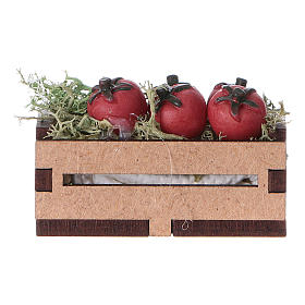 Comida em Miniatura para Presépio: Caixa com tomates 5x5x5 cm