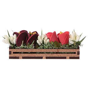 Bac à fleurs en bois 5x10x5 cm s1