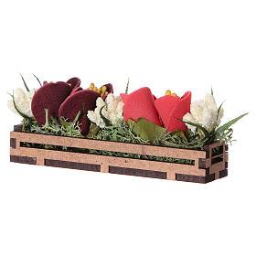 Bac à fleurs en bois 5x10x5 cm s2