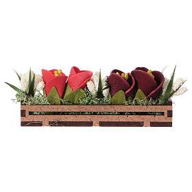 Bac à fleurs en bois 5x10x5 cm s3
