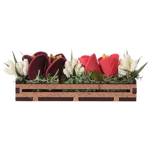 Bac à fleurs en bois 5x10x5 cm 1