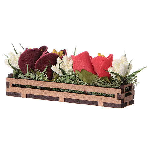 Bac à fleurs en bois 5x10x5 cm 2