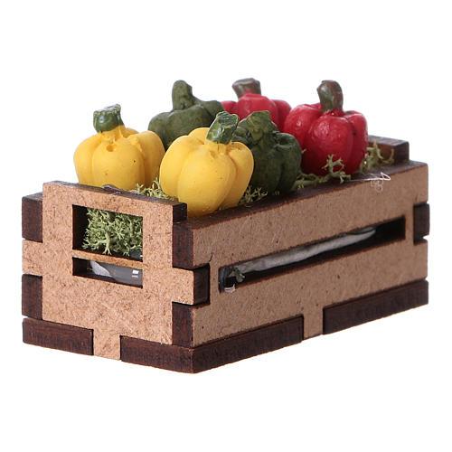 Caisse de poivrons 5x5x5 cm 2