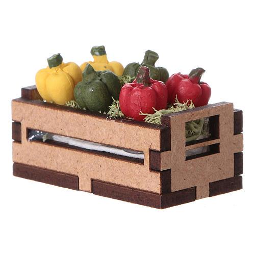 Caisse de poivrons 5x5x5 cm 3