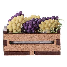 Comida em Miniatura para Presépio: Caixinha de uva 5x5x5 cm