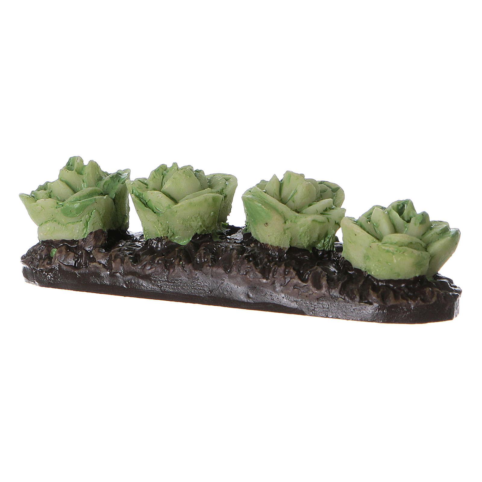 Row of lettuce in resin 5x5x5 cm 4