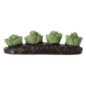 Row of lettuce in resin 5x5x5 cm s3