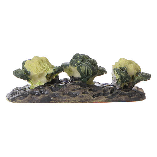 Row of cabbages in resin 5x5x5 cm 1