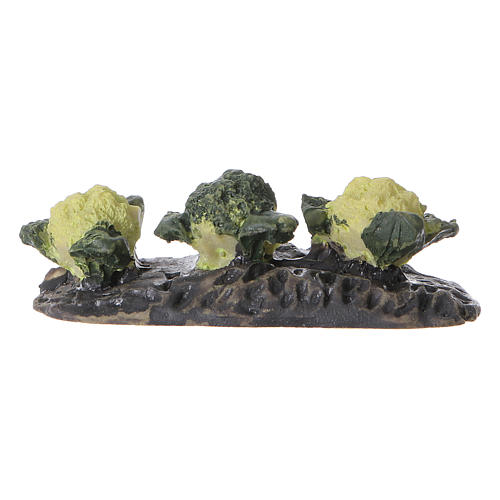 Row of cabbage figurine, in resin 5x5x5 cm 3