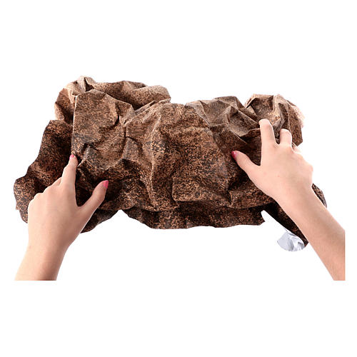 Mouldable brown rock paper, dimensions 50x70 cm 2