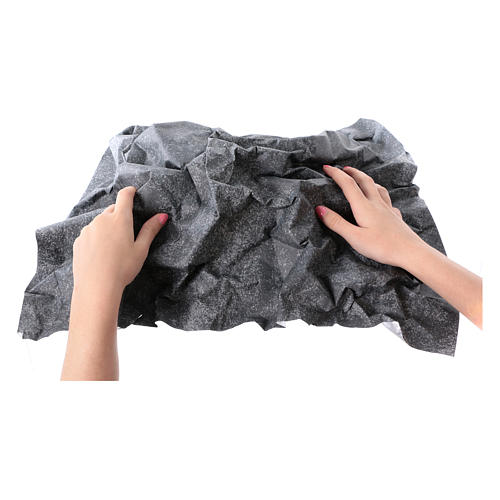 Mouldable grey rock paper, dimensions 50x70 cm 2