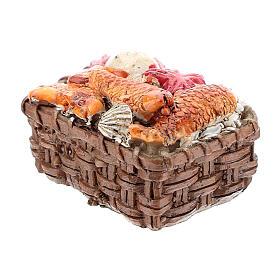 Fish basket in resin 1x3x3 cm, for 8-10 cm nativity s2