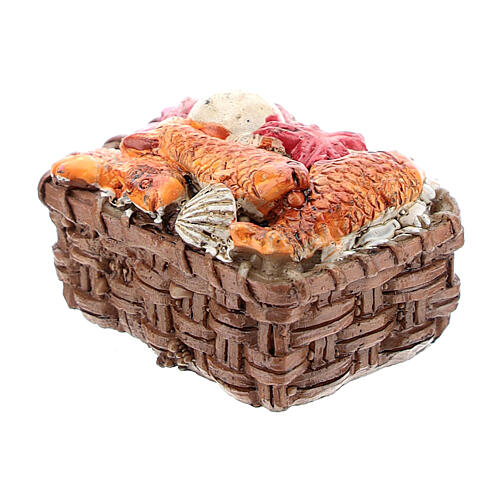 Fish basket in resin 1x3x3 cm, for 8-10 cm nativity 2