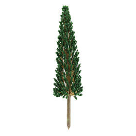 Moss, Trees, Palm trees, Floorings: Cypress tree without base for DIY Nativity scene real height 17 cm