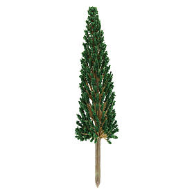 Cypress tree without base for DIY Nativity scene real height 17 cm s2