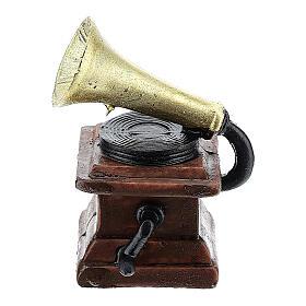Gramophone in resin 5x3x3 cm, for 14-16 cm nativity s1