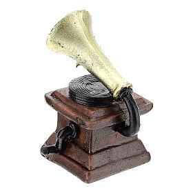 Gramophone in resin 5x3x3 cm, for 14-16 cm nativity s2
