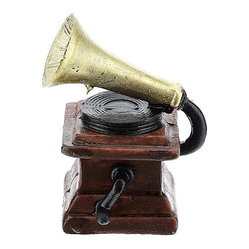 Gramophone in resin 5x3x3 cm, for 14-16 cm nativity 1