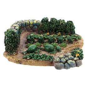 Maisons, milieux, ateliers, puits: Potager de 2x9x9 cm en résine pour crèche 6-8 cm