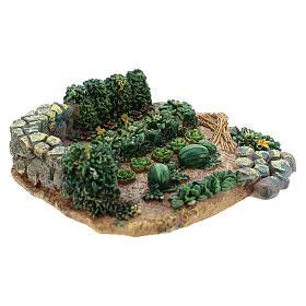 Horta de 2x9x9 cm em resina para presépio com peças de 6-8 cm de altura média s3